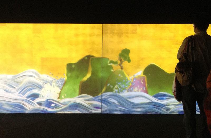 Teamlab Animated Waves Display