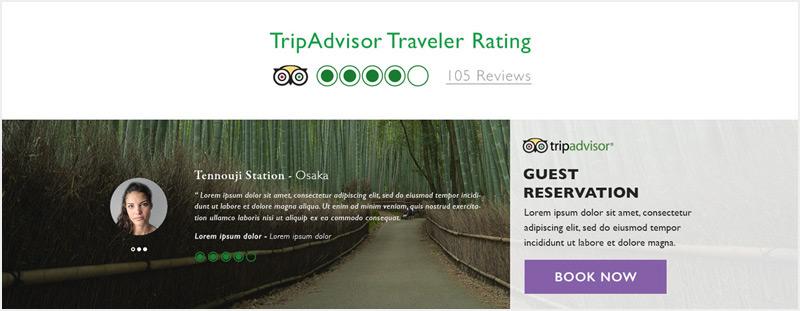 APA Hotels Japan Website TripAdvisor integration