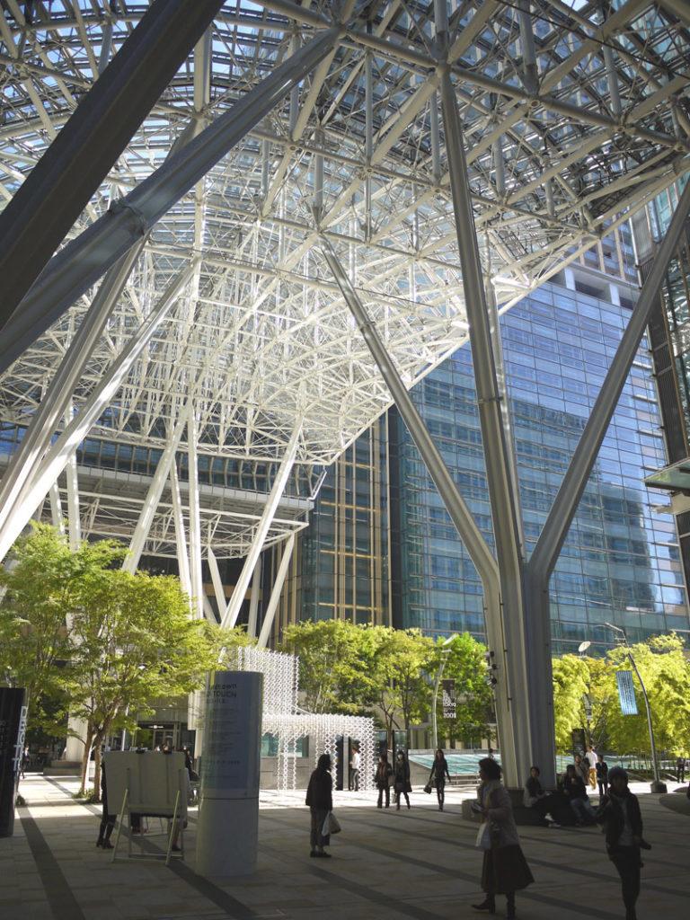 The exterior overhang of Tokyo Midtown